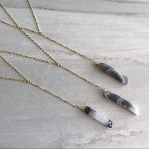 Estrella & Luna Jewelry - Botswana Agate Lariat Necklace